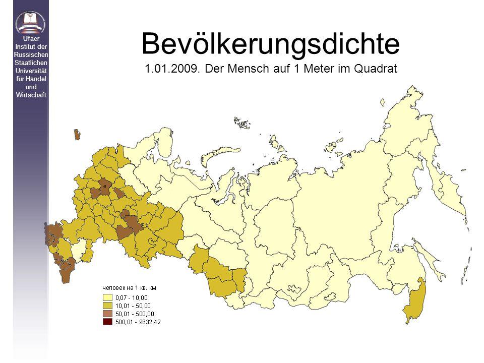 Bevölkerungsdichte 1.01.2009.