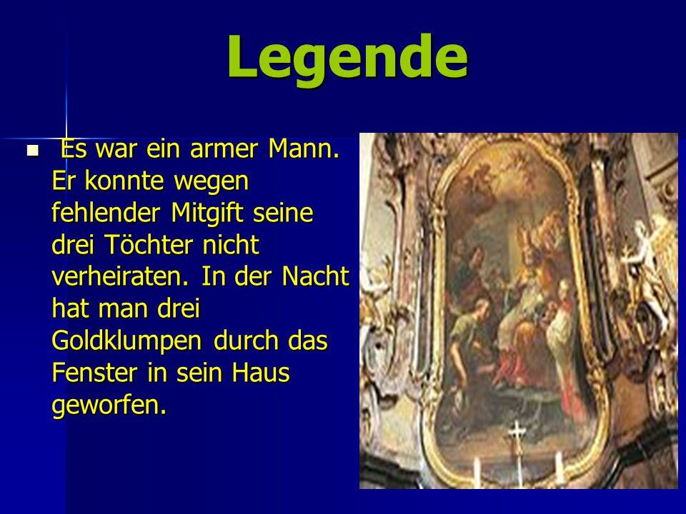 Legende Legende Es war ein armer Mann.
