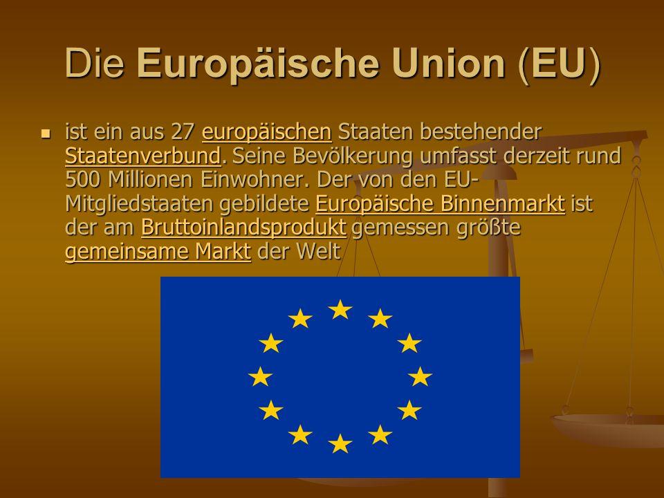 Fragen Was ist die EU ihrer Meinung nach.Was ist die EU ihrer Meinung nach.
