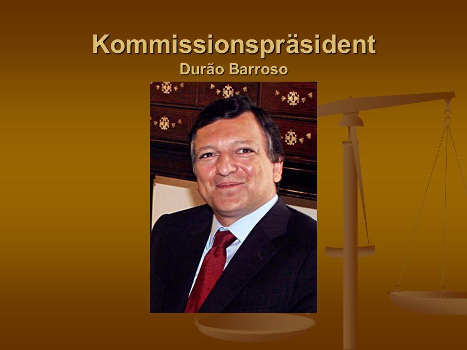 Kommissionspräsident Durão Barroso
