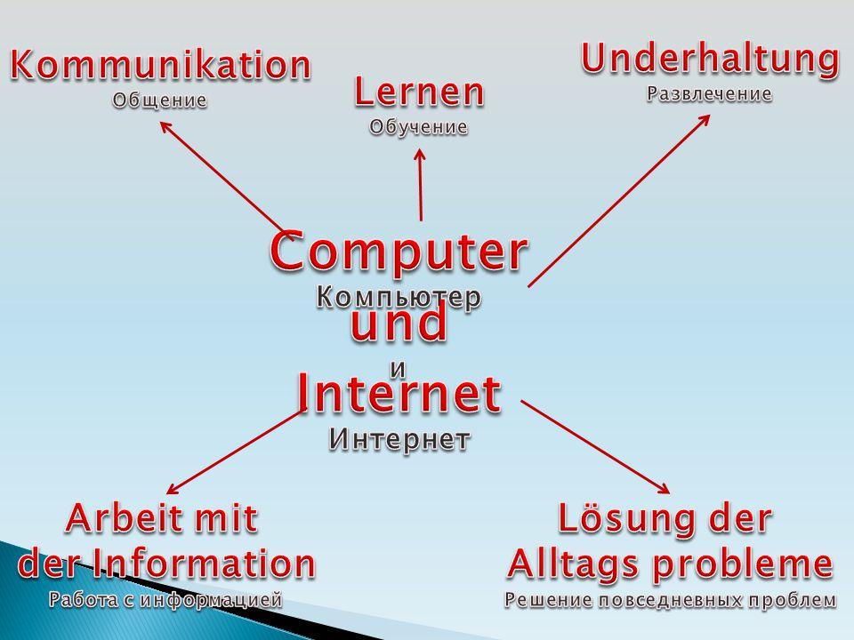 R E S Ü M E Der Computer gibt viele Möglichkeiten.