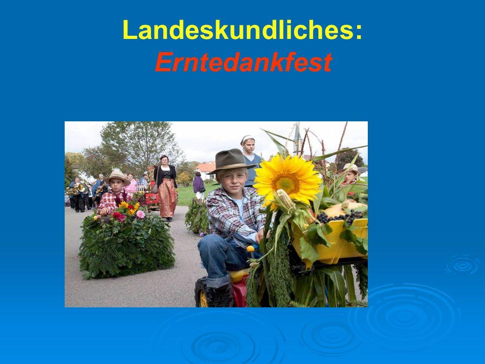 Landeskundliches: Erntedankfest