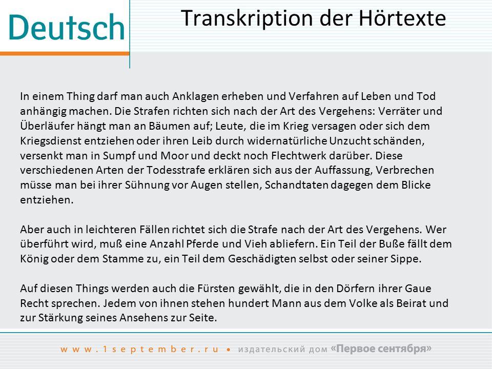 Den Text hören Tacitus: «Germania» (Auszug)