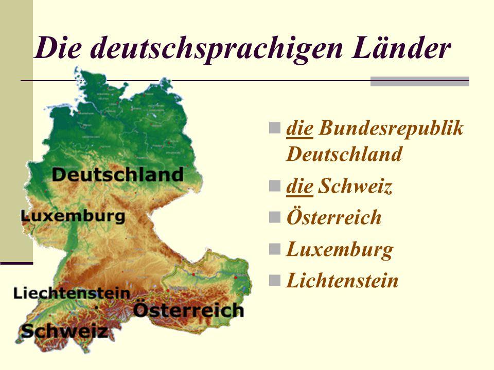 Deutschland liegt in der… Die Hauptstadt Deutschlands ist… Deutschland grenzt im Norden an… im Osten an… im Süden an...