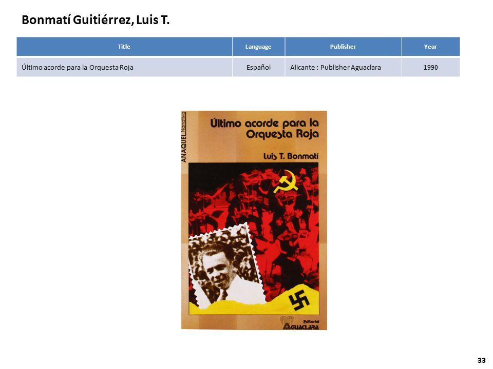 Bonmatí Guitiérrez, Luis T.