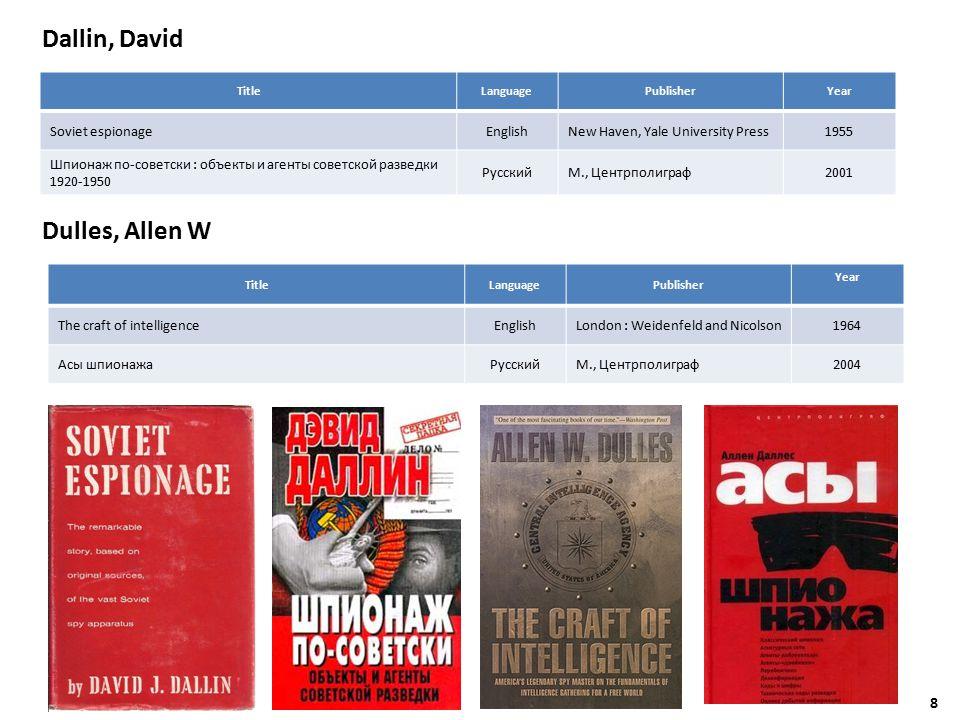 Nonfiction / Документальная литература AuthorTitle Langua ge PublisherYear Breitman, Richard; Goda, Norman J.