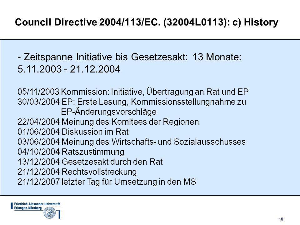 18 Council Directive 2004/113/EC.