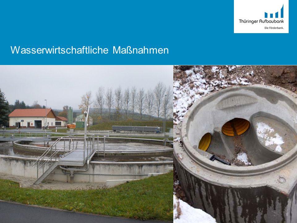 Wasserwirtschaftliche Maßnahmen