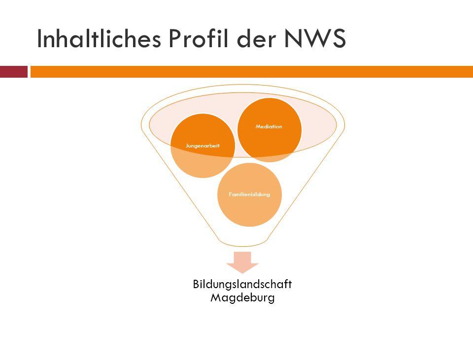 Inhaltliches Profil der NWS Bildungslandschaft Magdeburg FamilienbildungJungenarbeit Mediation