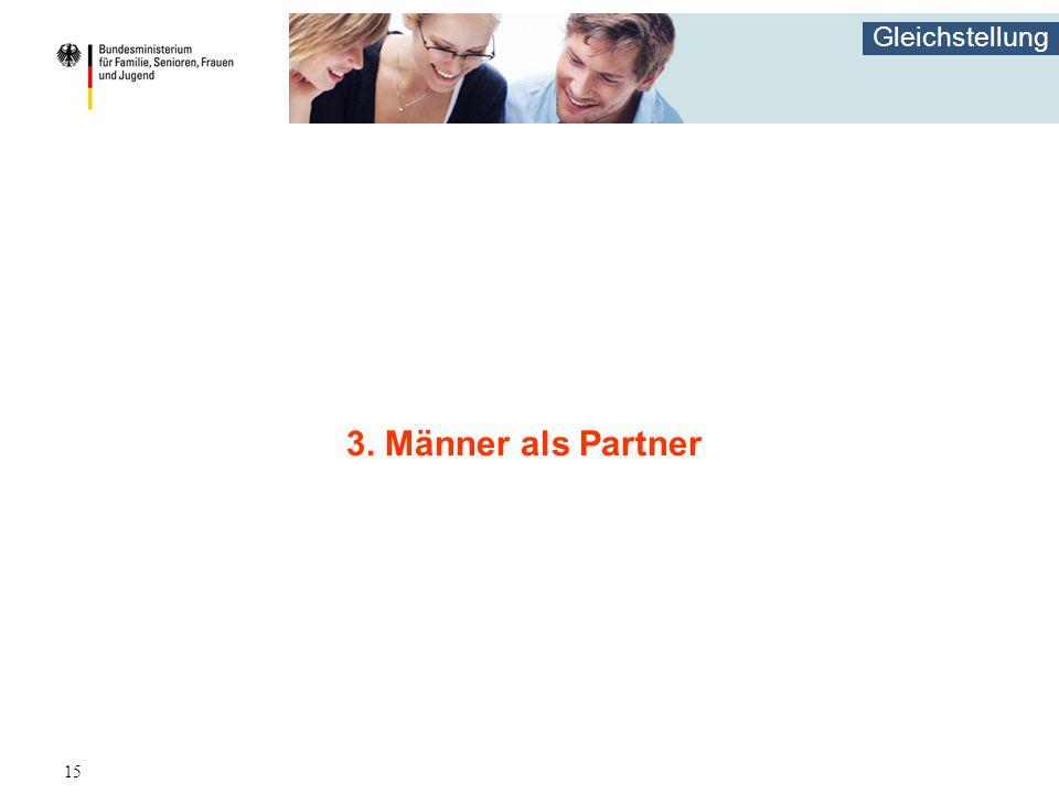 Gleichstellung 15 3. Männer als Partner