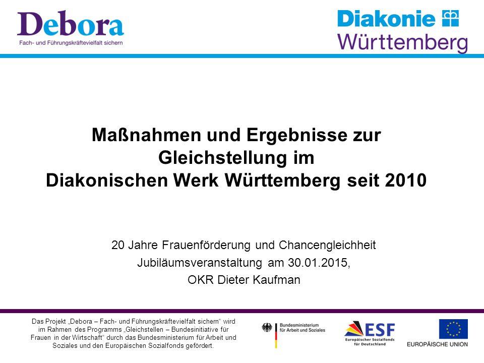 """Im Überblick: I Ausgangspunkt II Monitoring """"Gleichstellung in Führung III Projekt """"Debora IV Ergebnisse und Konsequenzen 2"""
