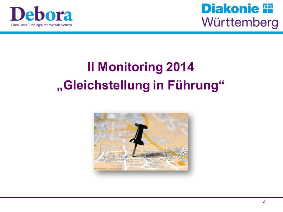 """II Monitoring 2014 """"Gleichstellung in Führung"""" 4"""