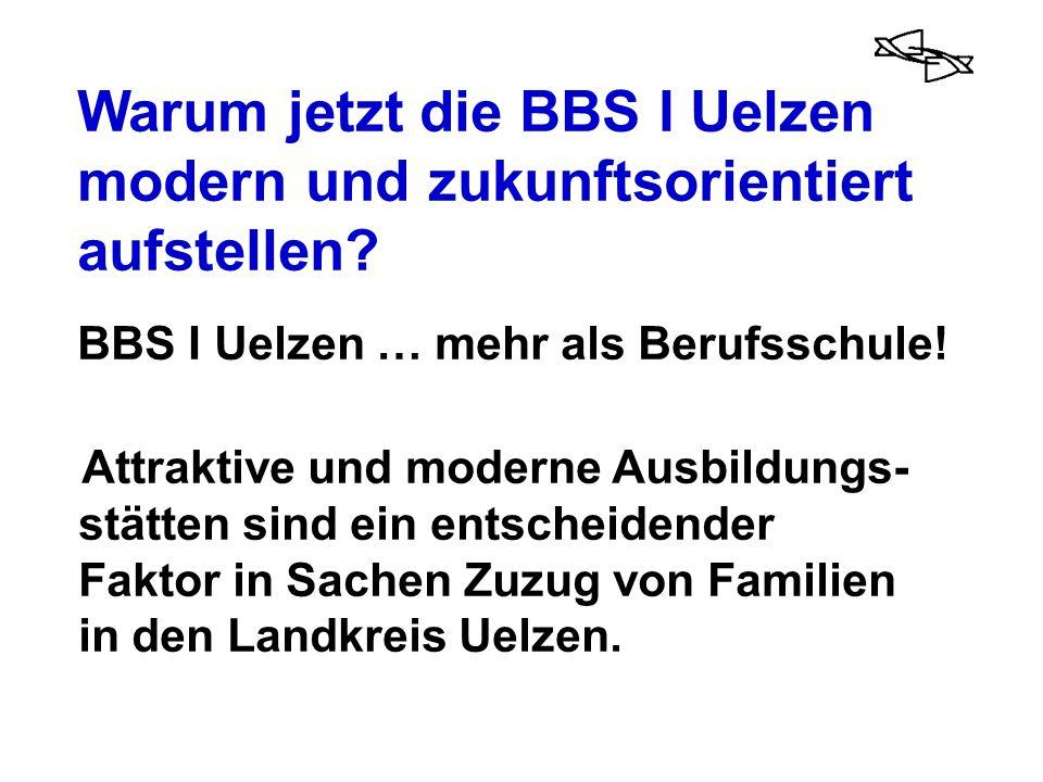 Warum jetzt die BBS I Uelzen modern und zukunftsorientiert aufstellen? BBS I Uelzen … mehr als Berufsschule! Attraktive und moderne Ausbildungs- stätt