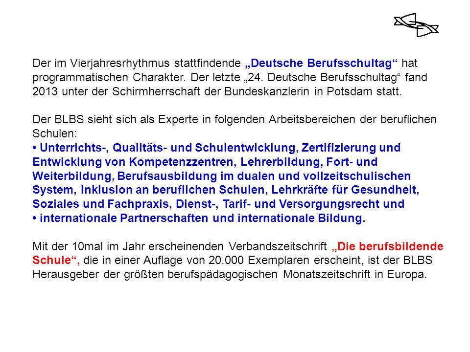 """Der im Vierjahresrhythmus stattfindende """"Deutsche Berufsschultag"""" hat programmatischen Charakter. Der letzte """"24. Deutsche Berufsschultag"""" fand 2013 u"""