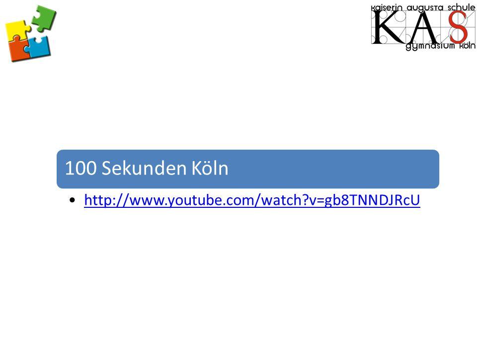 100 Sekunden Köln http://www.youtube.com/watch?v=gb8TNNDJRcU