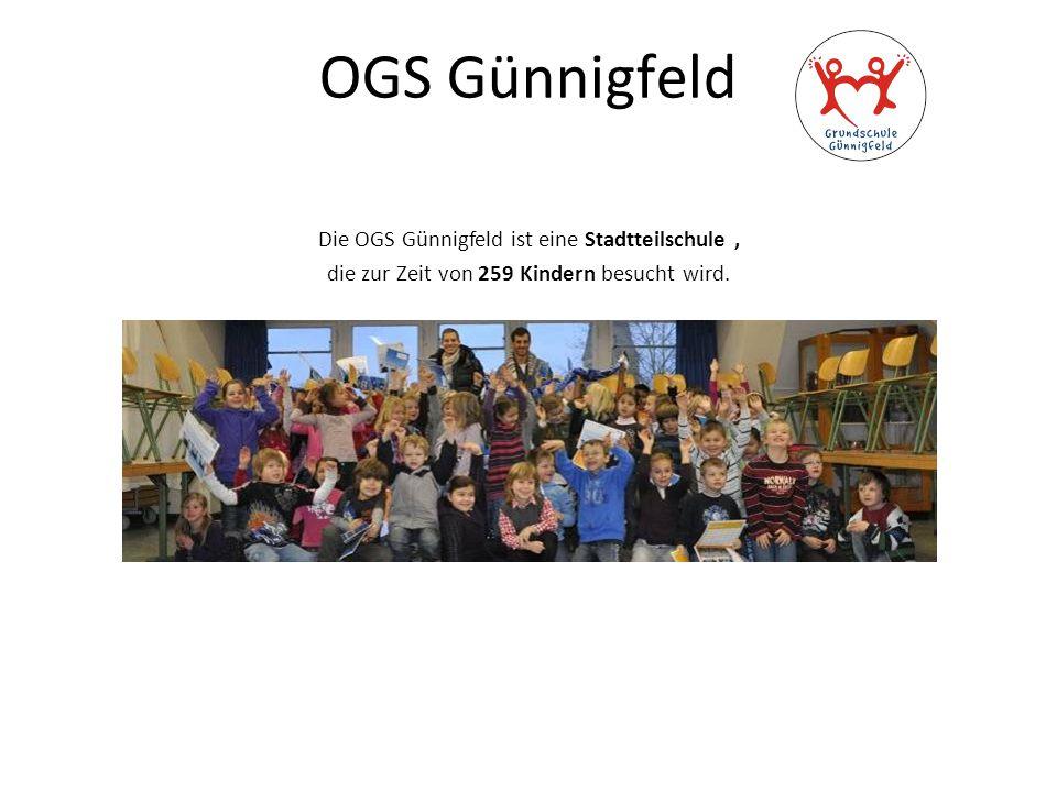 OGS Günnigfeld Die OGS Günnigfeld ist eine Stadtteilschule, die zur Zeit von 259 Kindern besucht wird.