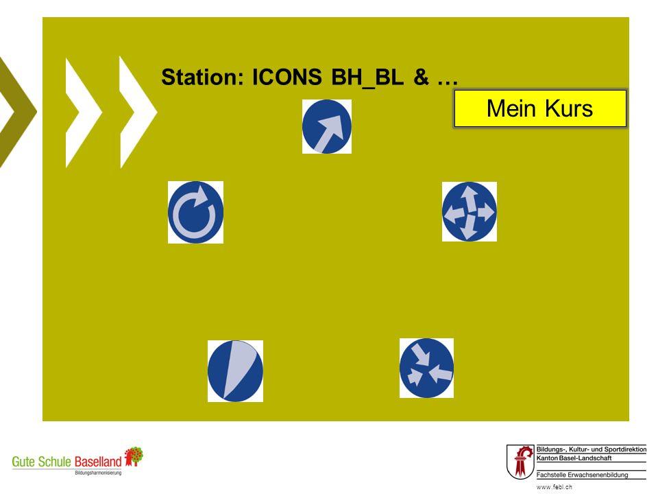 www.febl.ch Station: ICONS BH_BL & … Mein Kurs