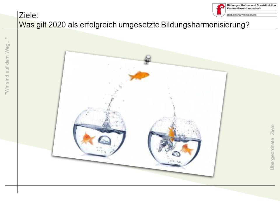Übergeordnete Ziele Wir sind auf dem Weg... Ziele: Was gilt: 2020 Gute Schule Baselland.