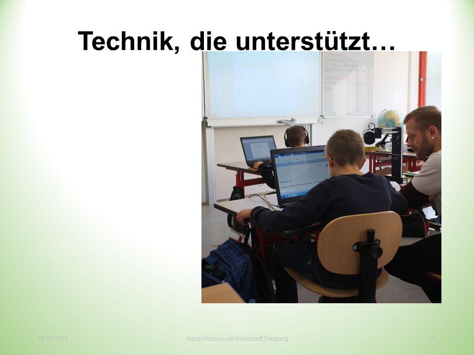 Technik, die unterstützt… 28.03.2015Gesamtschule der Kreisstadt Siegburg11
