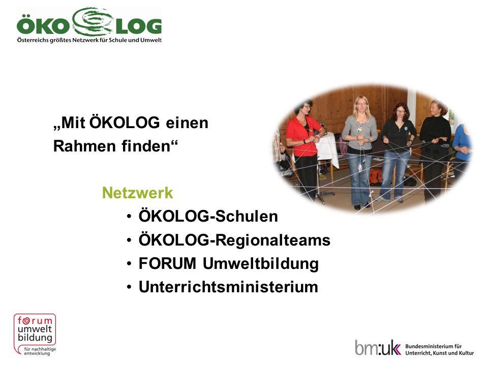 """""""Mit ÖKOLOG einen Rahmen finden"""" Netzwerk ÖKOLOG-Schulen ÖKOLOG-Regionalteams FORUM Umweltbildung Unterrichtsministerium"""