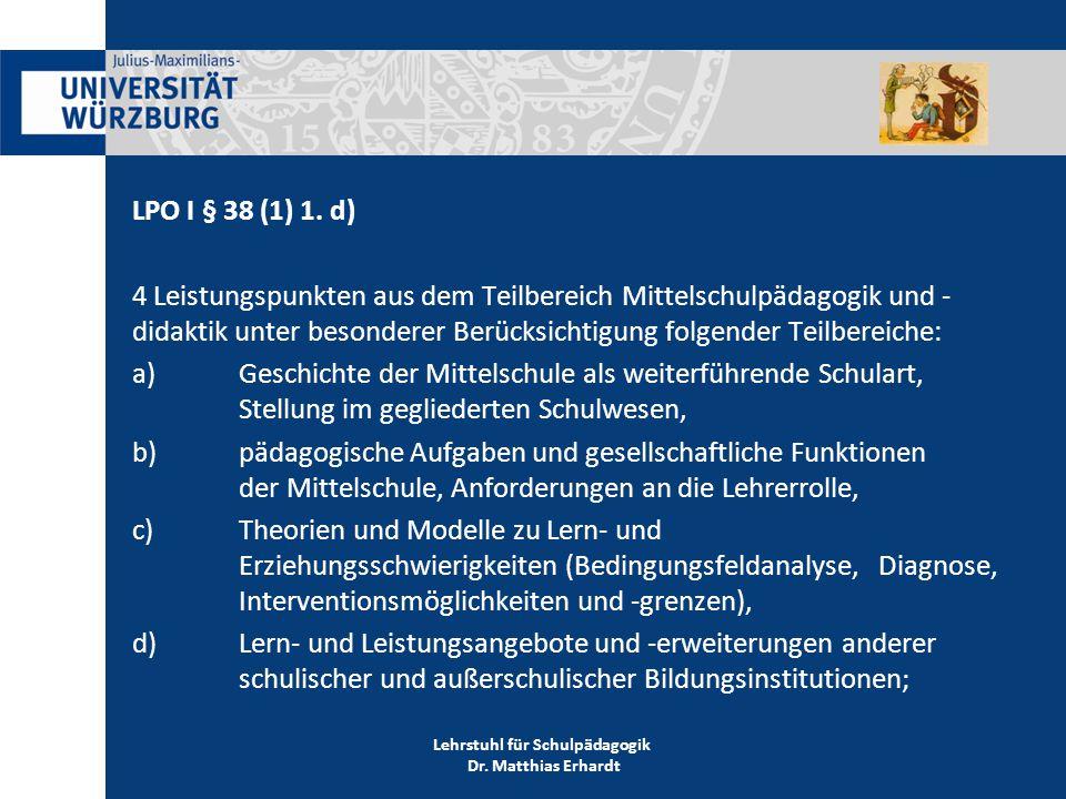LPO I § 38 (1) 1.