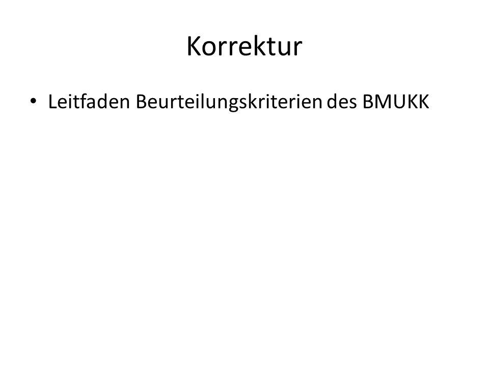 Korrektur Leitfaden Beurteilungskriterien des BMUKK