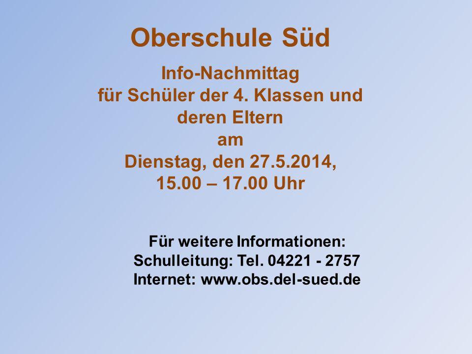 Für weitere Informationen: Schulleitung: Tel.