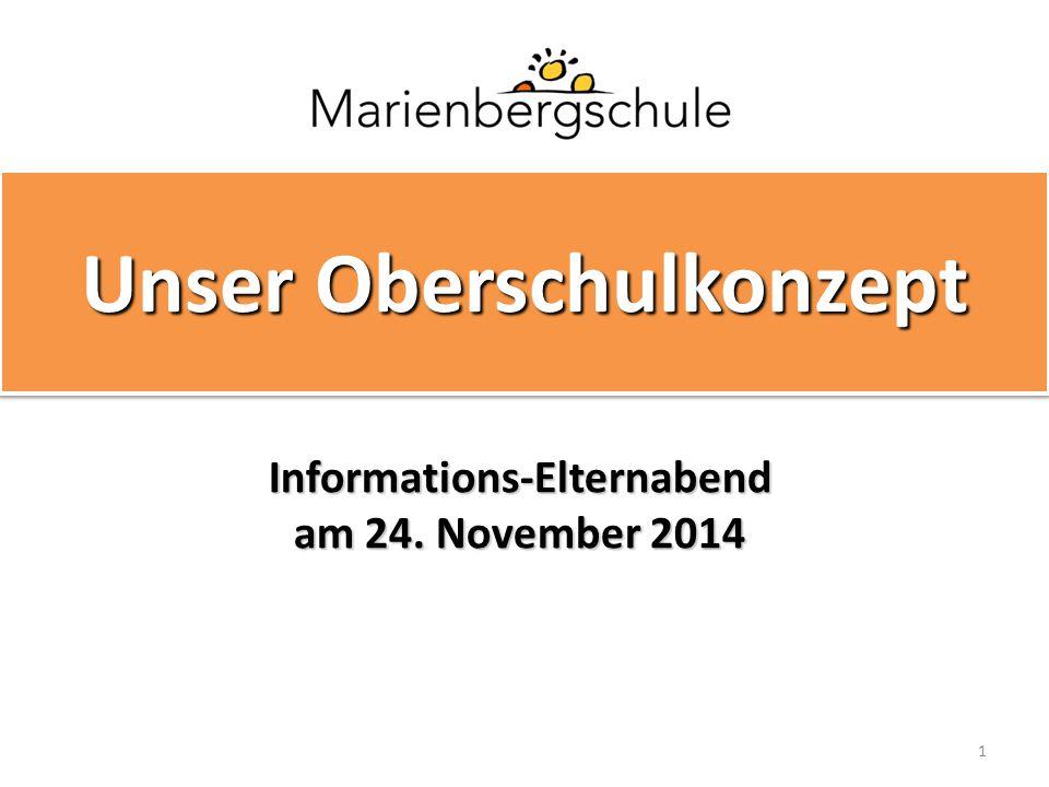 1 Unser Oberschulkonzept Informations-Elternabend am 24. November 2014