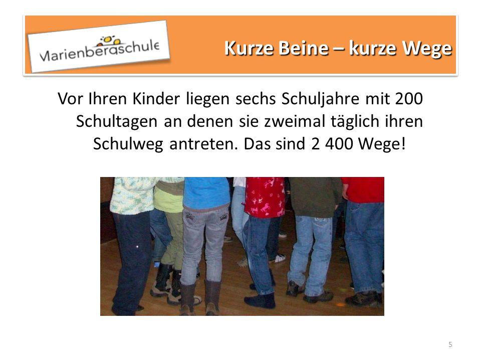 6 Die Marienbergschule wurde mit Beginn des Schuljahres 2011/2012 Oberschule.