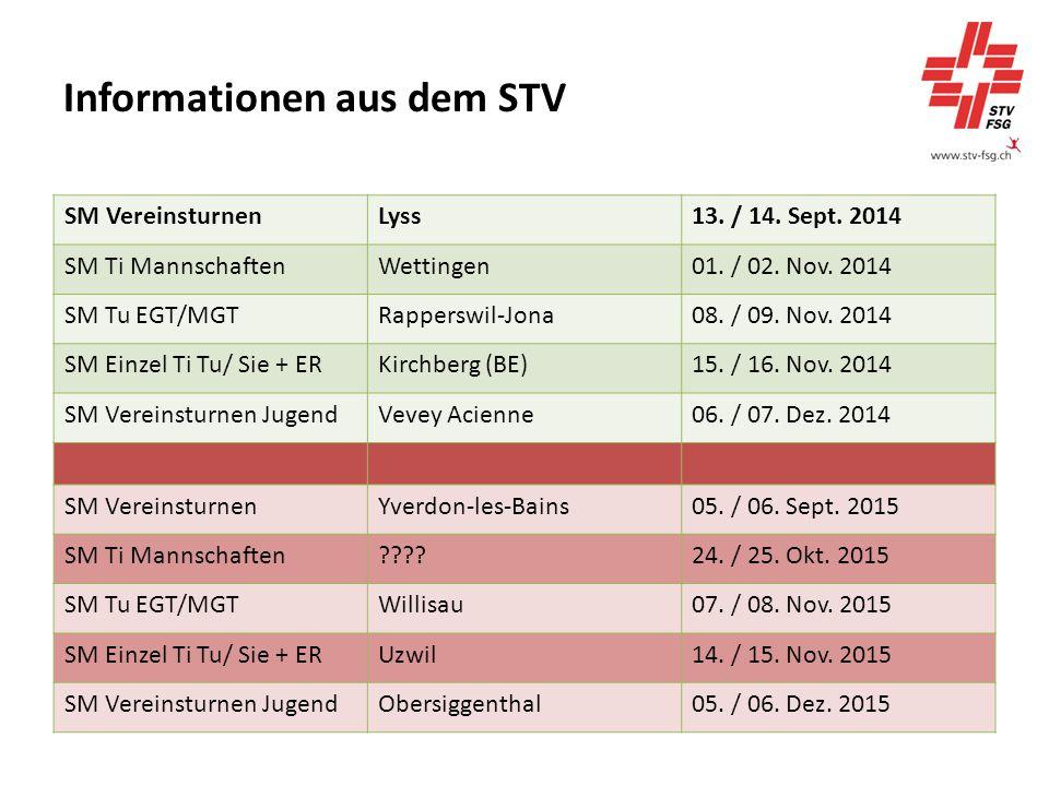 Informationen aus dem STV SM VereinsturnenLyss13. / 14.