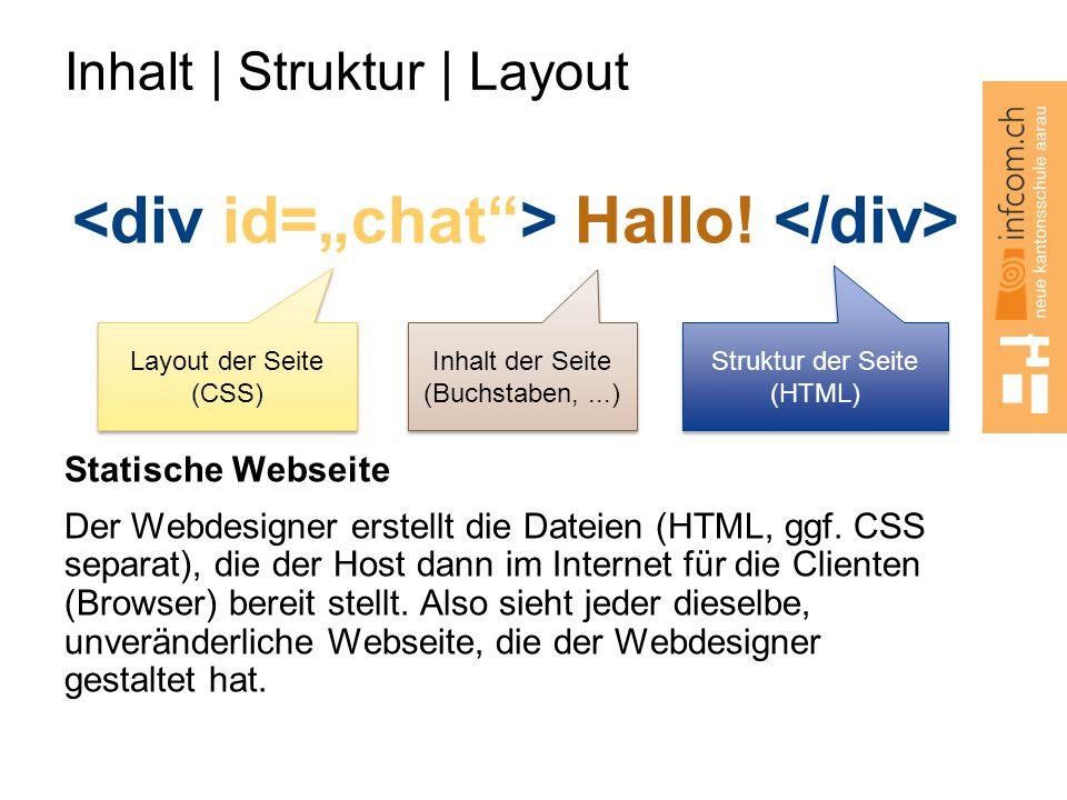 Inhalt | Struktur | Layout Hallo.
