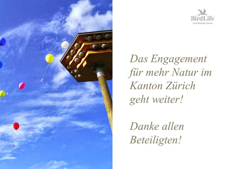 Das Engagement für mehr Natur im Kanton Zürich geht weiter! Danke allen Beteiligten!