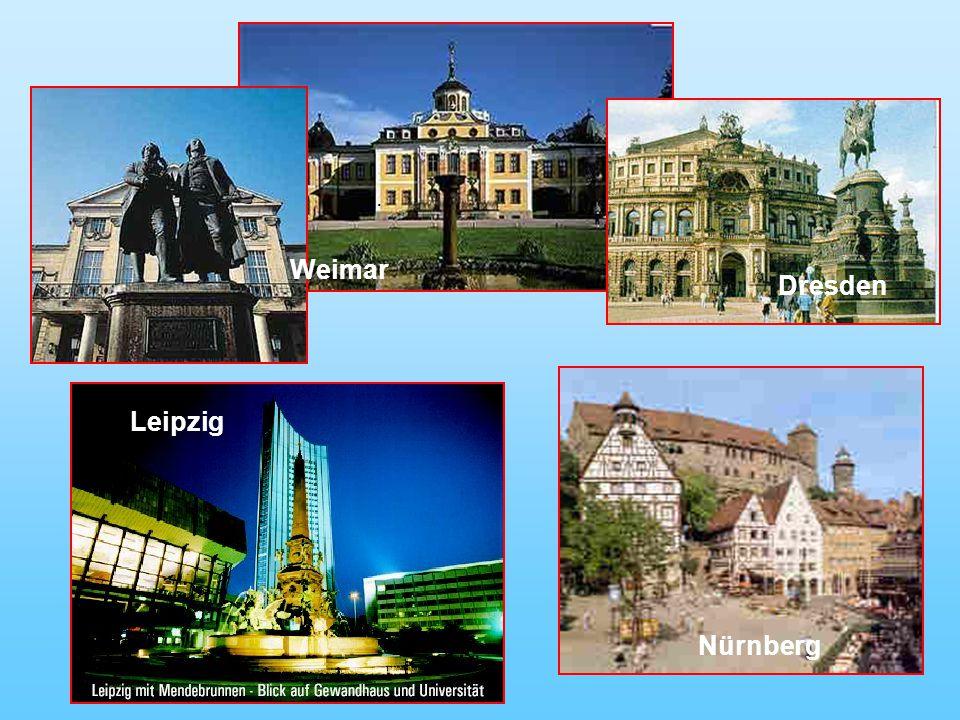 Weimar Dresden Nürnberg. Leipzig