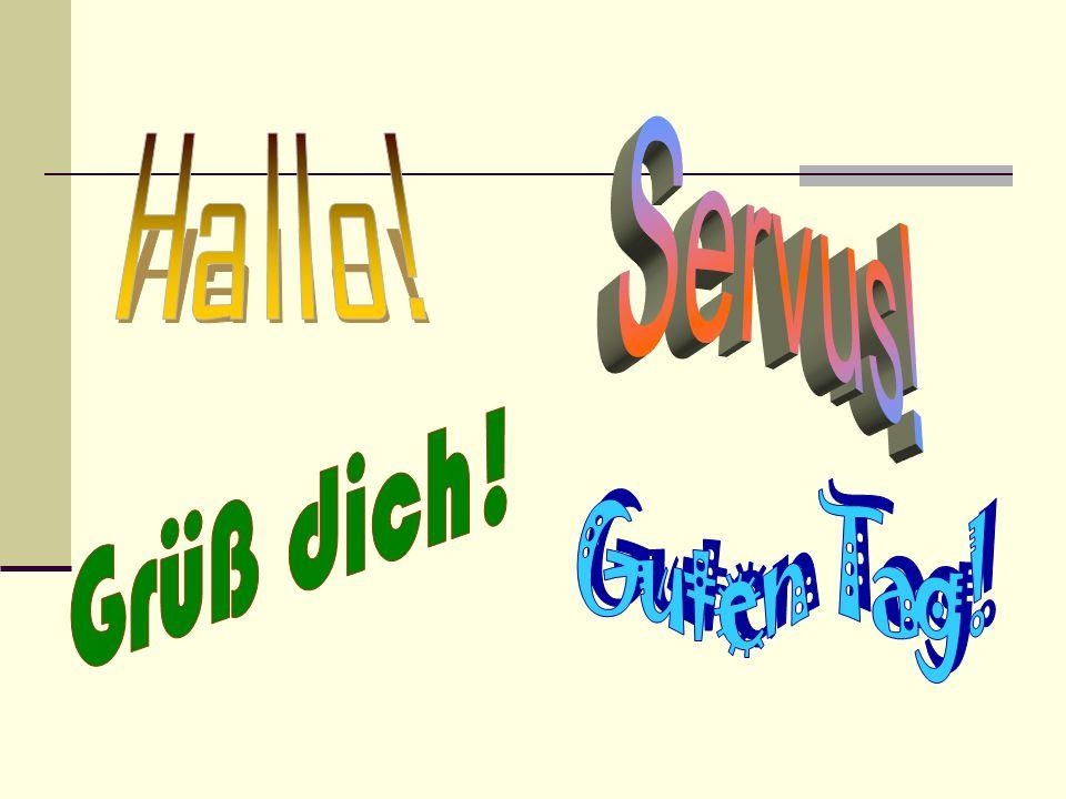 Guten Morgen oder Guten Tag, Deutsch II.Dieses Jahr werde ich viel mehr Deutsch sprechen.