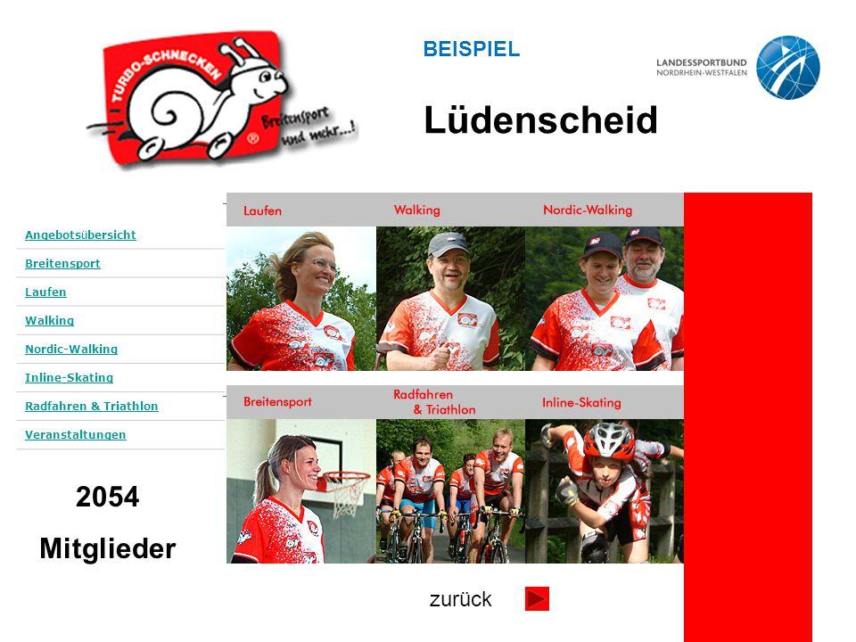 Angebots ü bersicht Breitensport Laufen Walking Nordic-Walking Inline-Skating Radfahren & Triathlon Veranstaltungen 2054 Mitglieder Lüdenscheid zurück