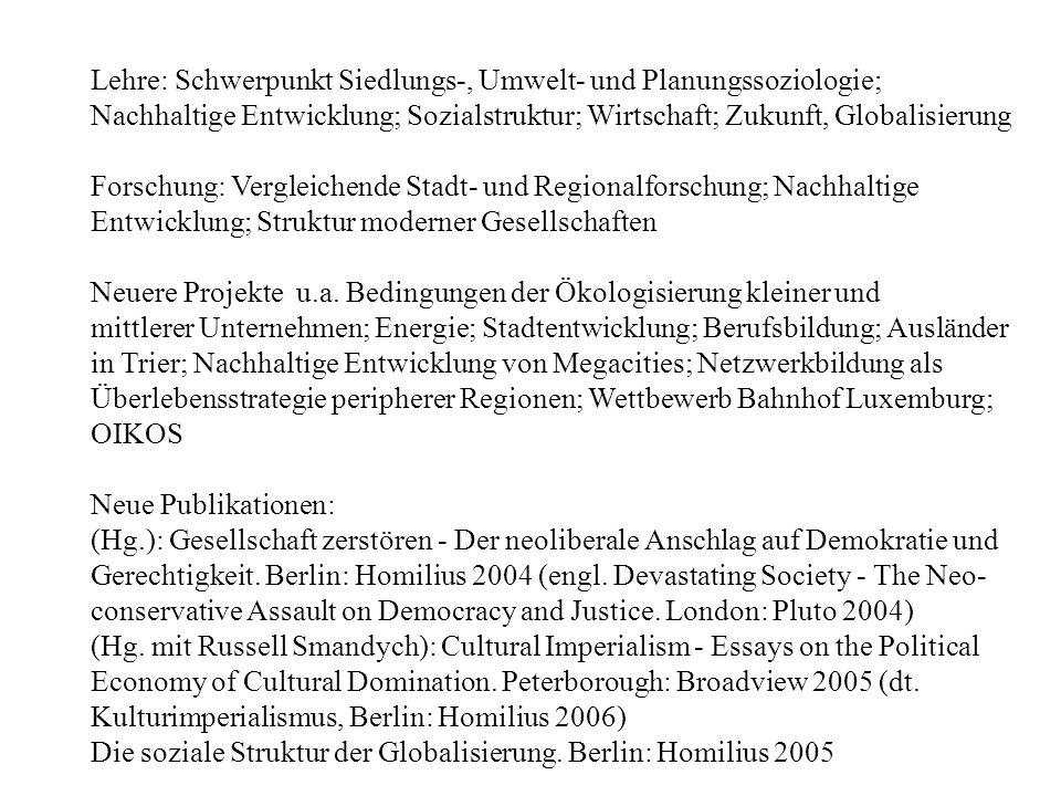 Referatedienste, Lexika Sociological Abstracts (Zeitschriftenartikel) Contemporary Sociology (Bücher) Soziologische Revue (Bücher) SoLis Pro Zukunft (Robert Jungk-Bibliothek, Salzburg) Endruweit/Trommsdorff (Hg.) Wörterbuch der Soziologie.