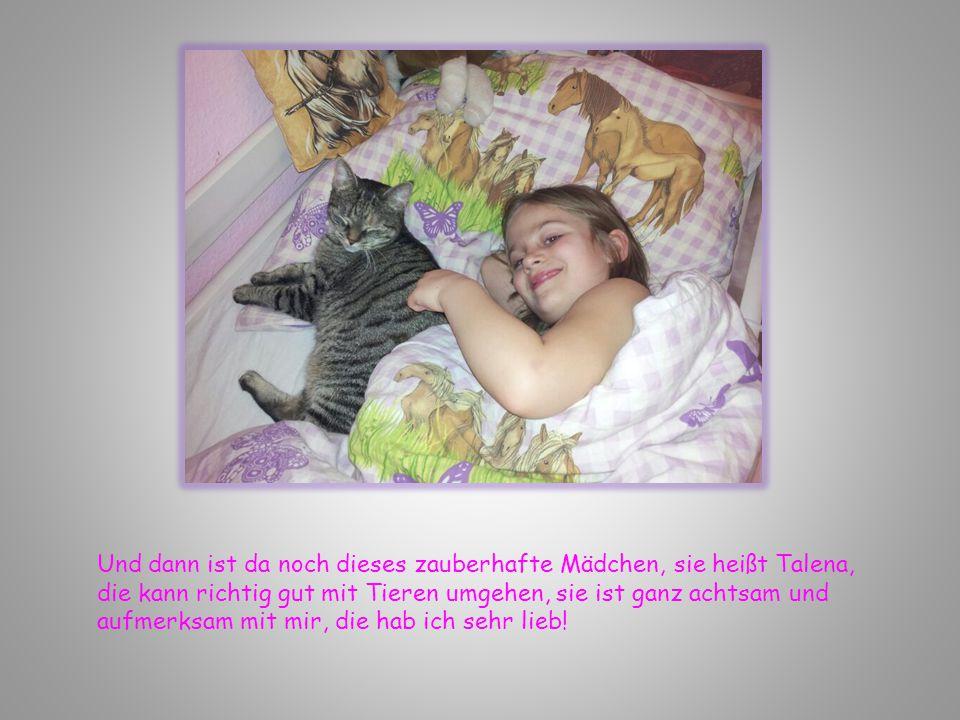 Und dann ist da noch dieses zauberhafte Mädchen, sie heißt Talena, die kann richtig gut mit Tieren umgehen, sie ist ganz achtsam und aufmerksam mit mi