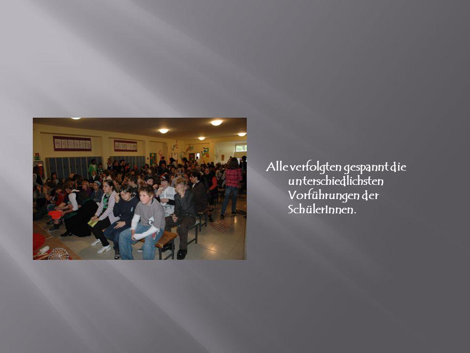 Alle verfolgten gespannt die unterschiedlichsten Vorführungen der SchülerInnen.
