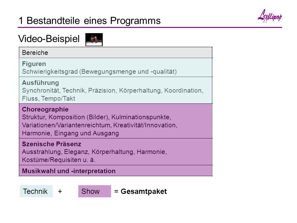 1 Bestandteile eines Programms BereicheObjektiv messbar.