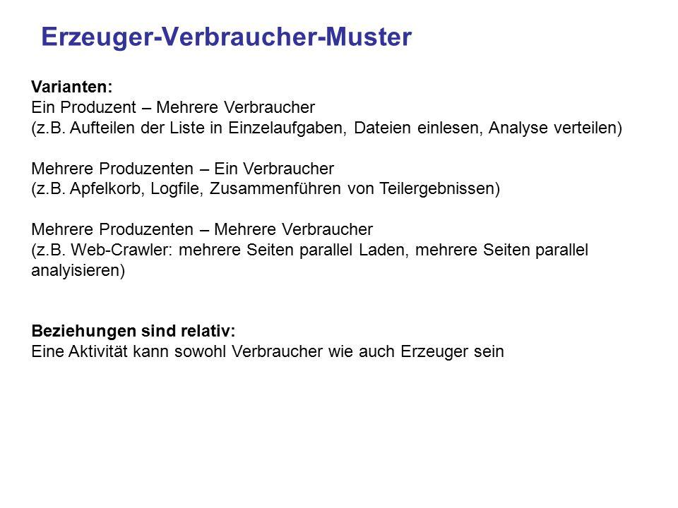 Erzeuger-Verbraucher-Muster Varianten: Ein Produzent – Mehrere Verbraucher (z.B.