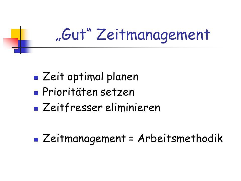 """""""Gut Zeitmanagement Durch optimales Zeitmanagement kann die Zeit effektiver und effizienter genutzt werden."""