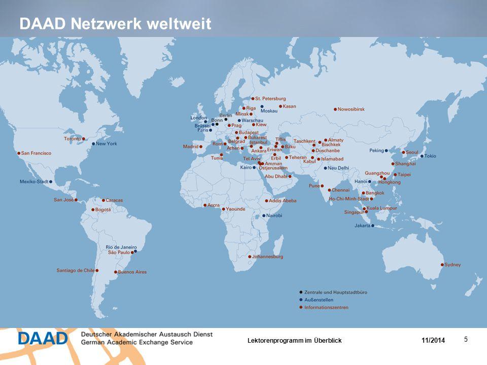 DAAD Netzwerk weltweit Lektorenprogramm im Überblick 11/2014 5