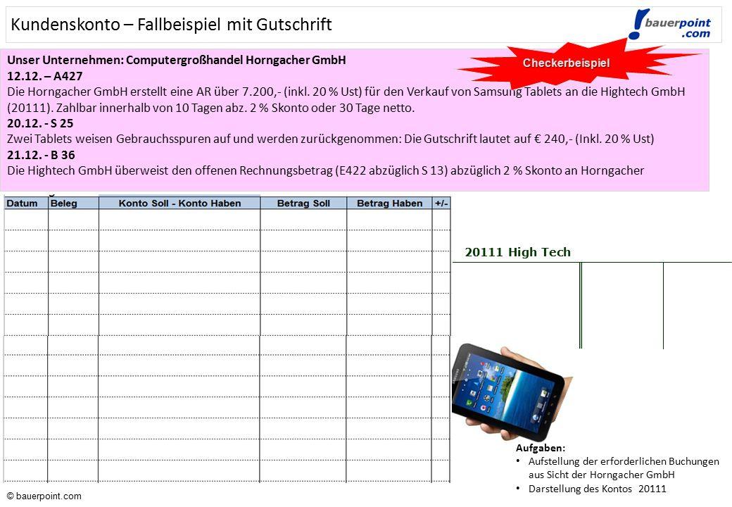 © bauerpoint.com Verkäufe bar und mit Bankomat- & Kreditkarten - Lösung: Die Auswertung der Registrierkasse der Harper GmbH zeigt am Tagesende folgend