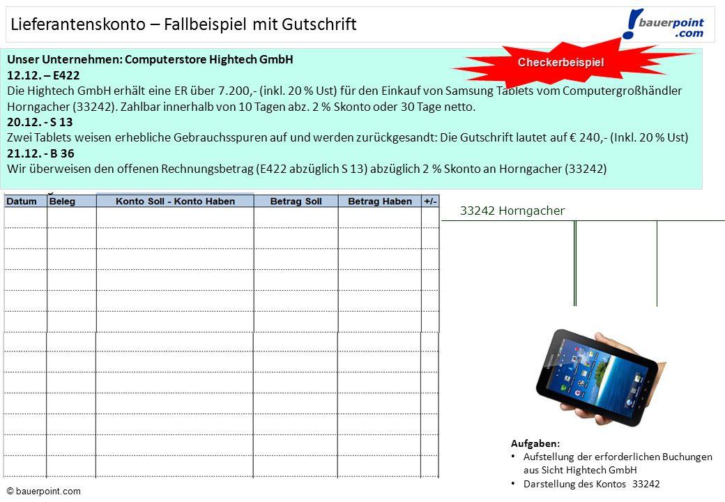 © bauerpoint.com © bauerpoint.com Unser Unternehmen: Computergroßhandel Horngacher GmbH 12.12. – A427 Die Horngacher GmbH erstellt eine AR über 7.200,