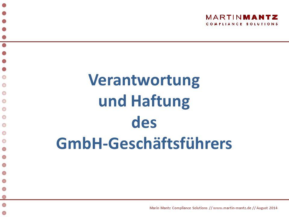 § 43 GmbHG Die Geschäftsführer haben in den Angelegenheiten der Gesellschaft die Sorgfalt eines ordentlichen Geschäftsmannes anzuwenden.