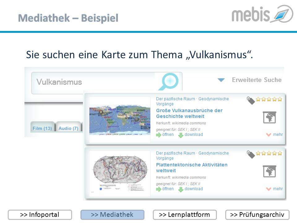 """>> Infoportal>> Mediathek>> Lernplattform>> Prüfungsarchiv Sie suchen eine Karte zum Thema """"Vulkanismus""""."""