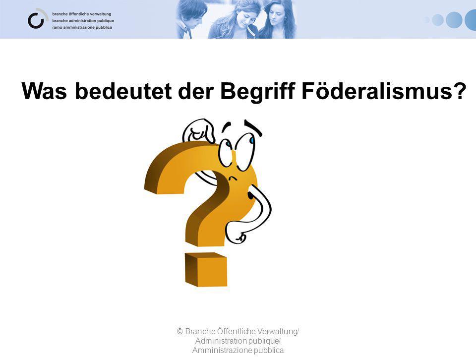 Was bedeutet der Begriff Föderalismus.