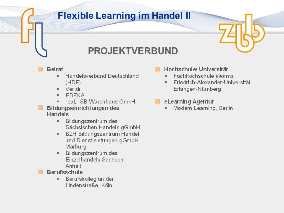 Flexible Learning im Handel II Einsatzbeispiel Bildungsträger Aufgabe aus dem Szenarium: Nonverbale Kommunikation einsetzen: Mimik und Gestik Übung Blickkontakt