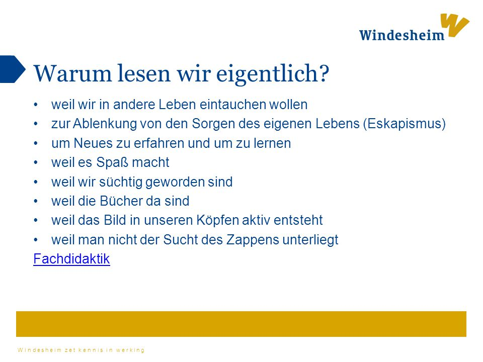 Windesheim zet kennis in werking Wo finde ich Unterrichtsmaterial.