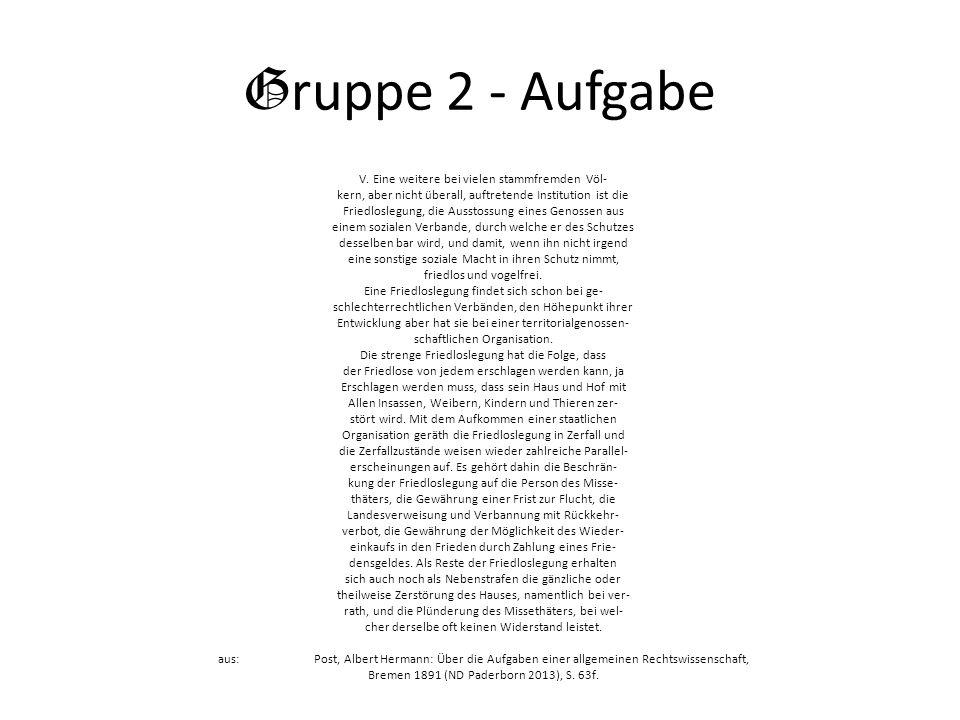 G ruppe 2 - Aufgabe V.